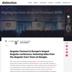 Highlights from AngularConnect 2016