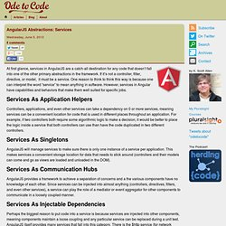 AngularJS Abstractions: Services