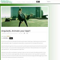 AngularJS, Animate your App!!