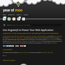Use AngularJS to Power Your Web Application