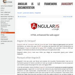 AngularJS apprendre à utiliser angular js de Google