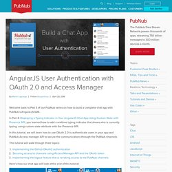 AngularJS User Authentication with OAuth 2.0 and PubNub Access Manager