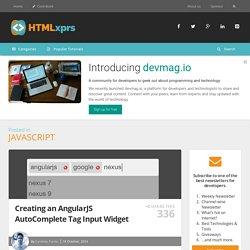 Creating an AngularJS AutoComplete Tag Input Widget
