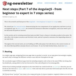 Next steps (Part 7 of the AngularJS - from beginner to expert in 7 steps series)