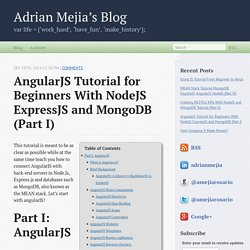 AngularJS Tutorial for Beginners With NodeJS ExpressJS and MongoDB (Part I) - Adrian Mejia's Blog