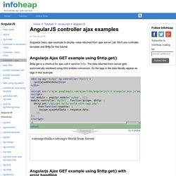 AngularJS controller ajax examples - InfoHeap