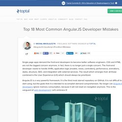 Most Common Mistakes AngularJS Developer Make