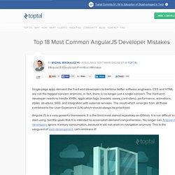 Most Common Mistakes AngularJS Developer Make