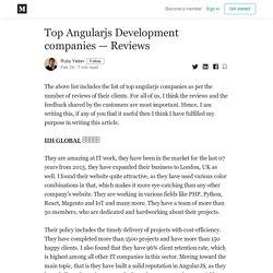 Top Angularjs Development companies — Reviews - Ruby Yadav - Medium