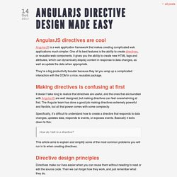 AngularJS Directive Design Made Easy