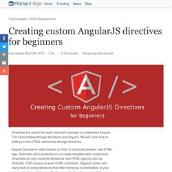Creating custom AngularJS directives for beginners