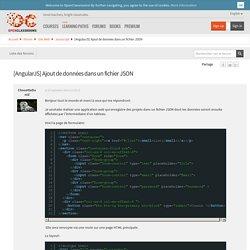 [AngularJS] Ajout de données dans un fichier JSON