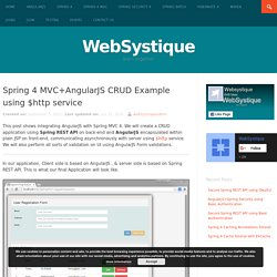 Spring 4 MVC+AngularJS CRUD Example using $http service - WebSystique