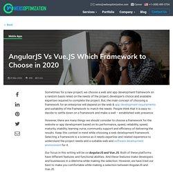 AngularJS vs VueJS: Which Framework to Choose in 2020