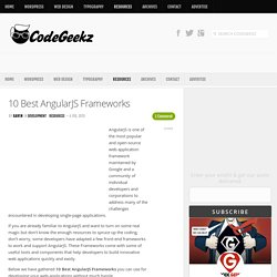 10 Best AngularJS Frameworks