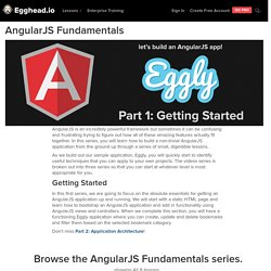 AngularJS Fundamentals - Video Tutorial Series @eggheadio