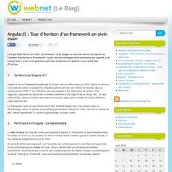 AngularJS : Tour d'horizon d'un framework en plein essor