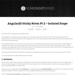 AngularJS Sticky Notes Pt 2 – Isolated Scope