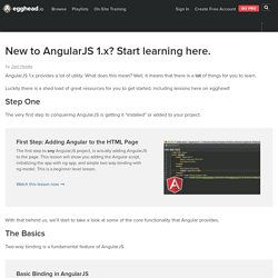 New to AngularJS 1.x? Start learning here. - Learn Angular 1.x