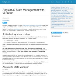 AngularJS State Management with ui-router