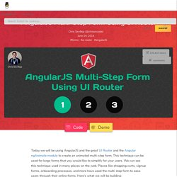 AngularJS Multi-Step Form Using UI Router