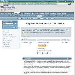 AngularJS le MVC cot client