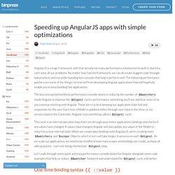 Speeding up AngularJS apps with simple optimizations - Tutorial - Binpress
