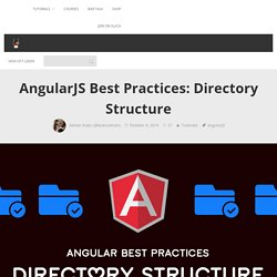 AngularJS Best Practices: Directory Structure