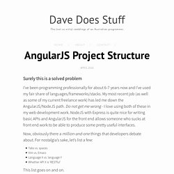 AngularJS Project Structure