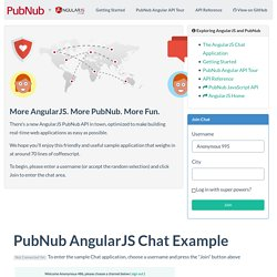 AngularJS PubNub Chat Application