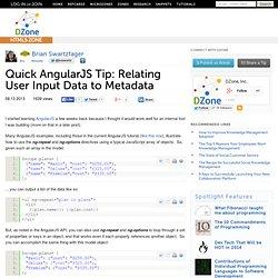 Quick AngularJS Tip: Relating User Input Data to Metadata