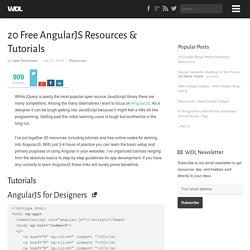 20 Free AngularJS Resources & Tutorials