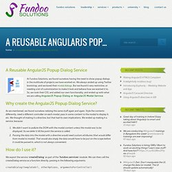 AngularJS Popup Dialog as a Reusable Service : Fundoo Solutions