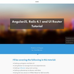AngularJS, Rails 4.1 and UI Router Tutorial