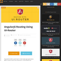 AngularJS Routing Using UI-Router