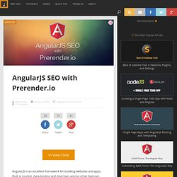AngularJS SEO with Prerender.io