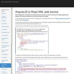 AngularJS to Read XML Web Service