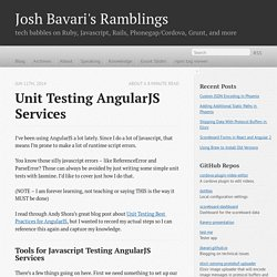 Unit Testing AngularJS Services - Josh Bavari's Ramblings