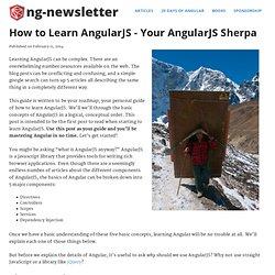 How to Learn AngularJS - Your AngularJS Sherpa