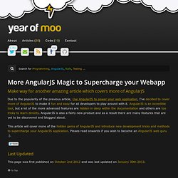 More AngularJS Magic to Supercharge your Webapp
