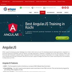 Best AngularJS Training in Kochi