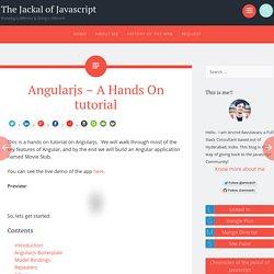 Angularjs - A Hands On tutorial
