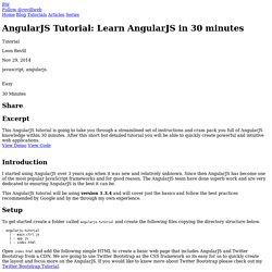 AngularJS Tutorial - Learn AngularJS in 30 minutes