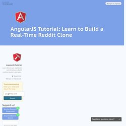 AngularJS Tutorial: Learn to Build Real-Time Web Apps - Thinkster