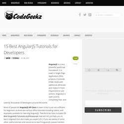 15 Best AngularJS Tutorials for Developers - Code Geekz