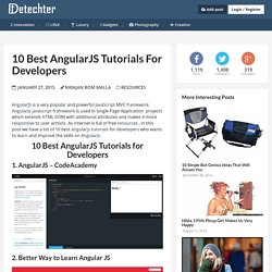 10 Best AngularJS Tutorials for Developers