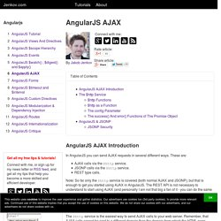 AngularJS AJAX