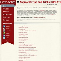 AngularJs Tips and Tricks [UPDATED] ☢ DeanSofer.com