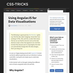 Using AngularJS for Data Visualisations