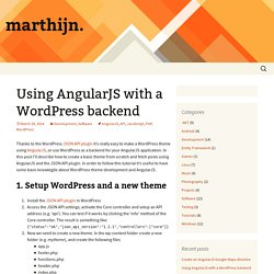 Using AngularJS with a WordPress backend